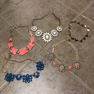Bundle of 5 statement necklaces